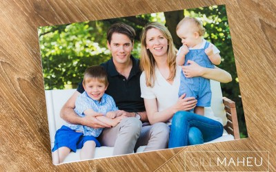 Stylish family lifestyle portrait album